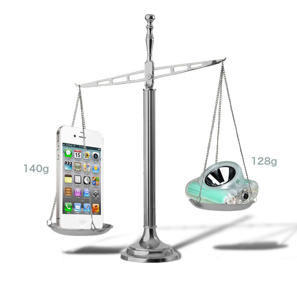 Lighter than the iPhone 4S. The models Cordless 2C and Cordless 2D are just weight 128g each!!!