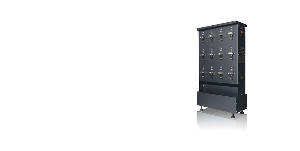 WISDOM NWCR-24: High-efficiency Charger Rack